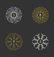 set floral monogram design templates vector image
