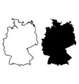 simple only sharp corners map germany drawing vector image vector image