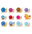 snail characters vector image vector image
