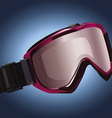 Snowboarding goggles vector image vector image