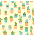 Succulent mix pattern vector image vector image