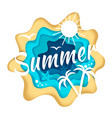 summer season composition in vector image