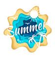 summer season composition vector image