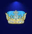 tiara with precious stones 3 vector image vector image