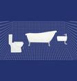 toilette vector image