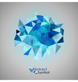 triangles on gray blue vector image vector image