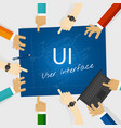ui user interface web design concept vector image vector image