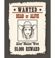 Vintage Wanted Western Poster vector image