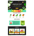Web Page Eco Food vector image vector image