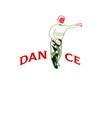 young man dancing rumba merengue or latin music vector image vector image