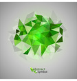 triangles on gray green vector image