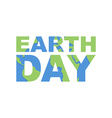 Earth Day emblem Logo for celebration of Earth vector image