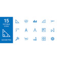 15 geometric icons vector image vector image