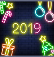 2019 new year banner with vector image