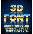 3d font vector image vector image