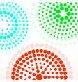 abstract background with colorful dotted circles vector image vector image