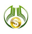 abstract dollar or money gradient color design vector image vector image