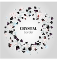 Abstract shiny crystal border vector image vector image