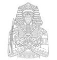 ancient egyptian pharaoh adult coloring page vector image vector image