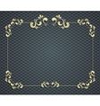 beautiful calligraphy gold frame vector image vector image