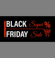 black friday super sale saving money on sale vector image vector image