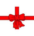 bow knot ribbon vector image