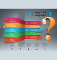 business infographics question mark vector image vector image