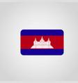 cambodia flag design vector image