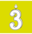 candles years number design vector image