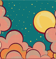 Cartoons sky background with grunge elements vector image vector image