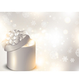 christmas holiday gift box vector image vector image
