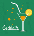 Cocktail design vector image vector image