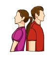 couple man and woman icon image vector image