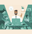 dad freelancer have business video call vector image vector image