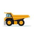 design of mining truck heavy machinery vector image vector image