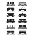 Different types of railway wagons vector image vector image
