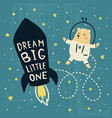 dream big bear vector image vector image