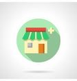 Drugstore flat color design icon vector image