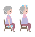 Exercise for old person vector image vector image