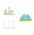 flat renewable alternative energy icon set vector image vector image