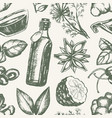 flavoured products - hand drawn seamless pattern vector image vector image
