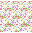 floral pattern seamless background with vector image vector image
