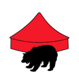 grizzly bear in circus vector image vector image