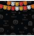 halloween bunting decoration vector image vector image
