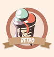 ice cream retro shopping vintage label vector image