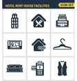 Icons set premium quality of hotel service vector image