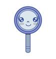 kawaii cute happy magnifying glass vector image vector image