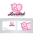 love bird logo design vector image vector image