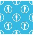 Man sign blue pattern vector image