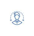 managerhuman resourcesuser line icon concept vector image vector image